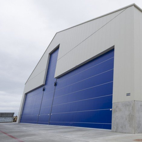 Interior & Exterior shots of the new 45-335 hangar