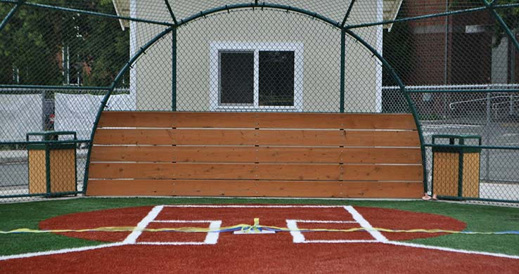 Navy Sports Field Home Plate